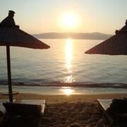il tramonto .. in spiaggia